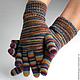 """Варежки, митенки, перчатки ручной работы. Ярмарка Мастеров - ручная работа. Купить Перчатки """"Automne"""". Handmade. Разноцветный, мультиколор"""