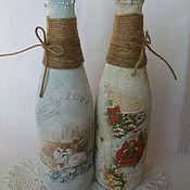 Свадебный салон ручной работы. Ярмарка Мастеров - ручная работа Декорирование любых бутылок. Handmade.