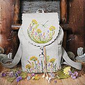 Сумки и аксессуары handmade. Livemaster - original item Linen backpack