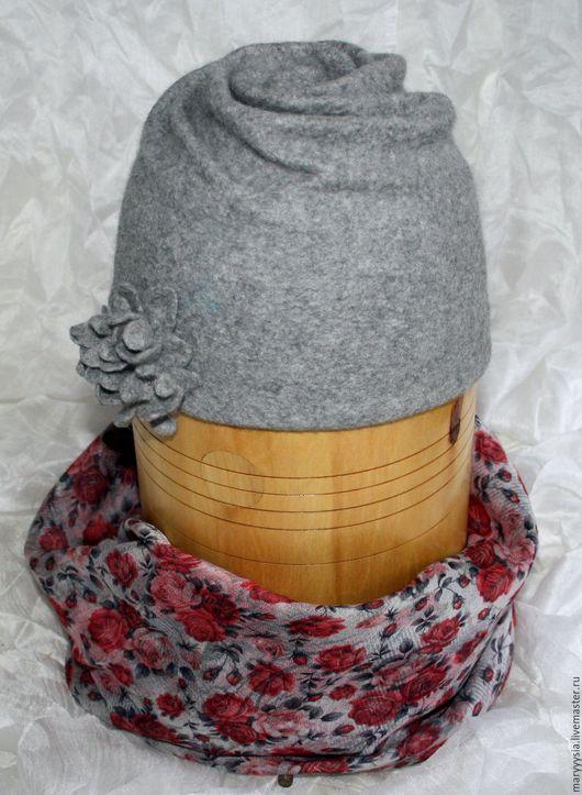 Шапки ручной работы. Ярмарка Мастеров - ручная работа. Купить шапочка валяная. Handmade. Шапка женская, Валяние, шерсть меринос