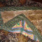 Для дома и интерьера ручной работы. Ярмарка Мастеров - ручная работа Одеяло из шкурок кролика. Handmade.