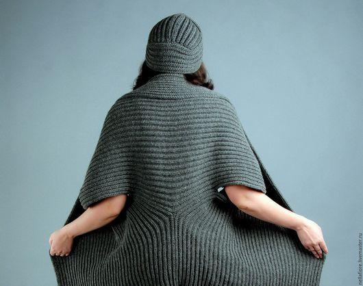 """Кофты и свитера ручной работы. Ярмарка Мастеров - ручная работа. Купить Кардиган-накидка """"Mantle"""". Handmade. Темно-серый"""