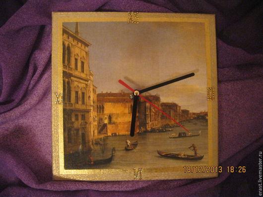 Часы для дома ручной работы. Ярмарка Мастеров - ручная работа. Купить Часы Венеция. Handmade. Часы, золотой, золото