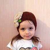 Аксессуары handmade. Livemaster - original item Dashenka headband hair knitted. Handmade.