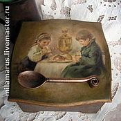 """Для дома и интерьера ручной работы. Ярмарка Мастеров - ручная работа Коробка для чайных пакетиков""""Выпьем чайку"""". Handmade."""