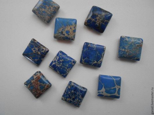 Для украшений ручной работы. Ярмарка Мастеров - ручная работа. Купить Варисцит,кабошон-бусина,16х16х6(9). Handmade. Тёмно-синий