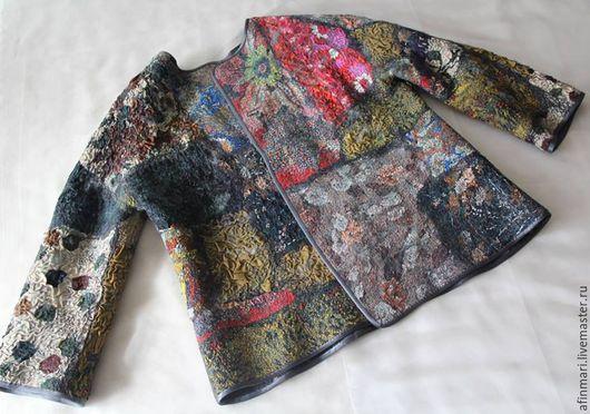 """Пиджаки, жакеты ручной работы. Ярмарка Мастеров - ручная работа. Купить Жакет валяный """" Уютная осень"""". Handmade."""