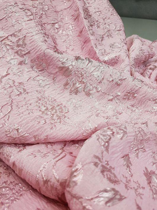 Шитье ручной работы. Ярмарка Мастеров - ручная работа. Купить 20 % скидка Жаккард розовый жемчуг Итальянские ткани.. Handmade.