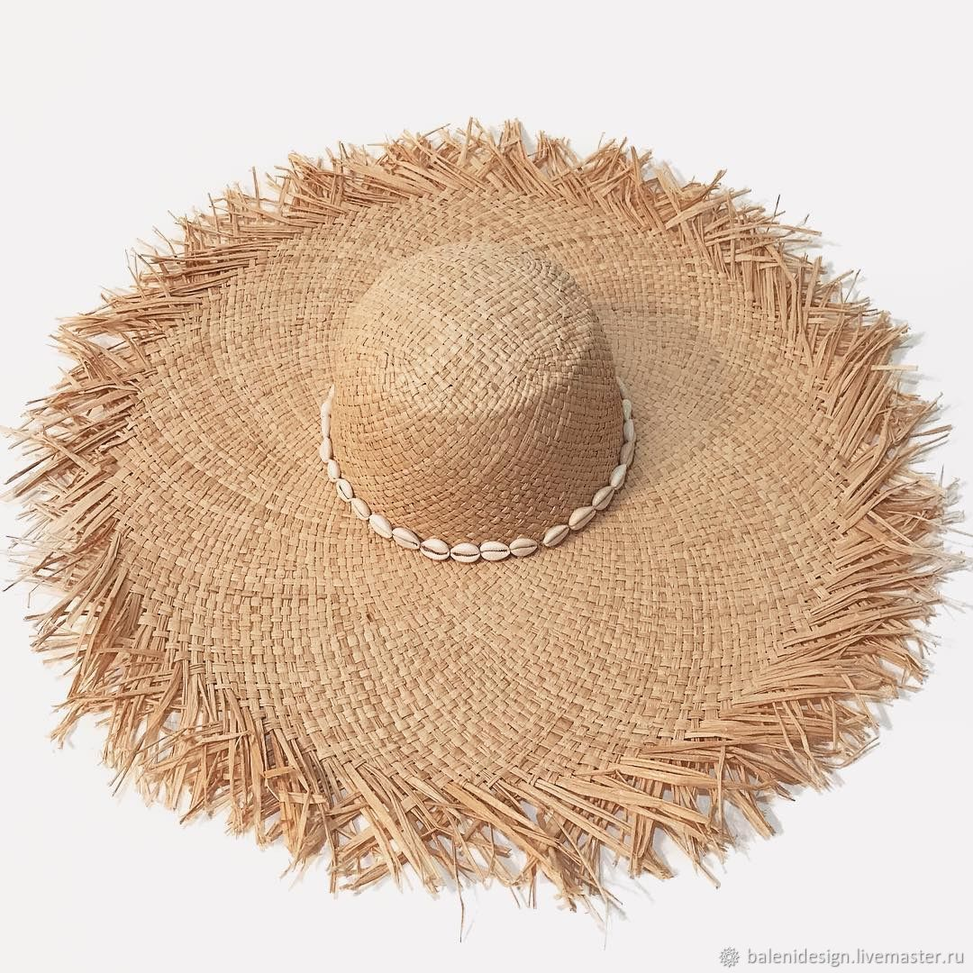 Шляпы ручной работы. Ярмарка Мастеров - ручная работа. Купить Шляпа из рафии с лохматыми полями. Handmade. Шляпы, соломенные шляпы