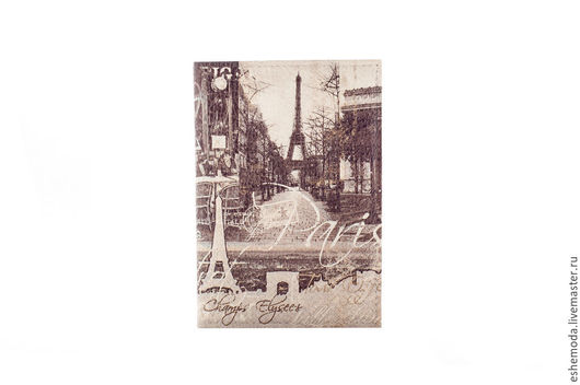 Обложки ручной работы. Ярмарка Мастеров - ручная работа. Купить Обложка на паспорт Paris. Handmade. Чёрно-белый, Париж, для автодокументов