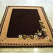 Для дома и интерьера handmade. Livemaster - original item Rug Mat knitted from cord Autumn flowers. Handmade.