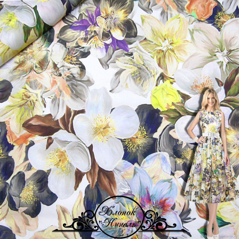 """Хлопок Blumarine """"Нинель"""" итальянские ткани, Fabric, Sochi,  Фото №1"""