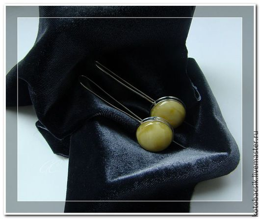 """Серьги ручной работы. Ярмарка Мастеров - ручная работа. Купить Серьги """"Фонарик"""". Handmade. Желтый, серьги, янтарь, янтарные серьги"""