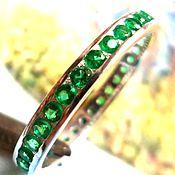 """Украшения ручной работы. Ярмарка Мастеров - ручная работа """"Green lights"""" изумрудный хромдиопсид, серебро 925. Handmade."""