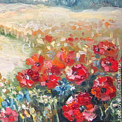 Картины и панно handmade. Livemaster - original item Painting poppies painting field of poppies. Handmade.
