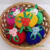 Подарки к праздникам ручной работы. Ярмарка Мастеров - ручная работа Набор декоративных пасхальных яиц. Handmade.