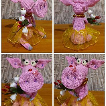Куклы и игрушки ручной работы. Ярмарка Мастеров - ручная работа Игрушки: свинка. Handmade.