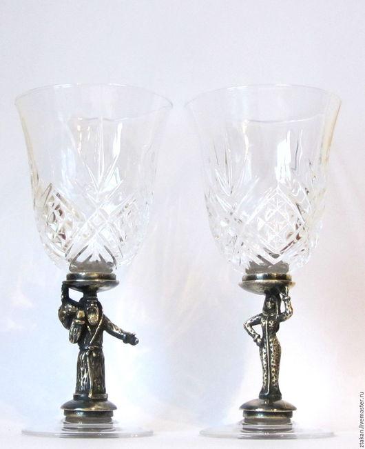 Набор винных бокалов Новогодние, хрусталь, вместимость 180 мл.