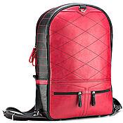 Сумки и аксессуары handmade. Livemaster - original item Leather backpack-transformer