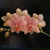 Картины и панно handmade. Livemaster - original item Oil painting an Orchid Branch.(the cycle of