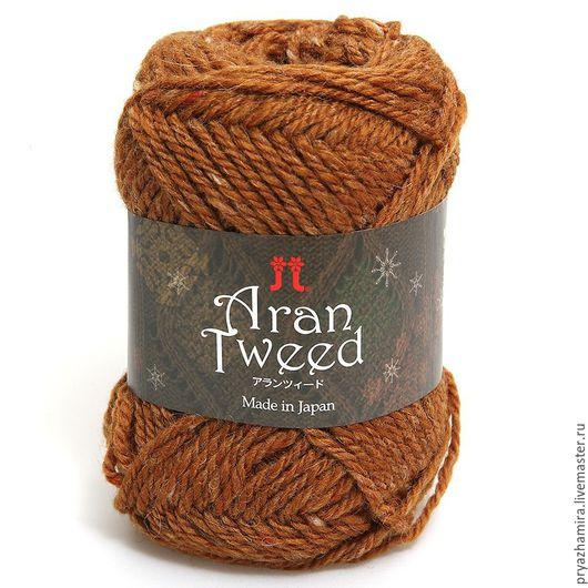 Вязание ручной работы. Ярмарка Мастеров - ручная работа. Купить Пряжа Aran Tweed тон 07 (Япония). Handmade. Рыжий
