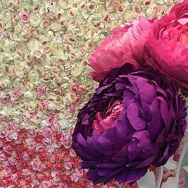 Свадебный салон ручной работы. Ярмарка Мастеров - ручная работа Фотозона из цветов. Handmade.