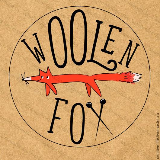 """Баннеры для Магазинов мастеров ручной работы. Ярмарка Мастеров - ручная работа. Купить Логотип """"Woolen Fox"""". Handmade. Рыжий, лого"""