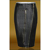 Одежда handmade. Livemaster - original item Pencil skirt made of genuine Python leather. Handmade.