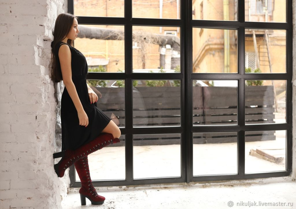 Boots: Felted boots Style, Knee-high boots, Dnepropetrovsk,  Фото №1