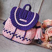 Рюкзаки ручной работы. Ярмарка Мастеров - ручная работа Рюкзак вязаный детский. Handmade.
