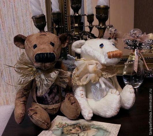 """Игрушки животные, ручной работы. Ярмарка Мастеров - ручная работа. Купить Маленький медвежонок """"Ретро"""". Handmade. Коричневый, подарок подруге"""