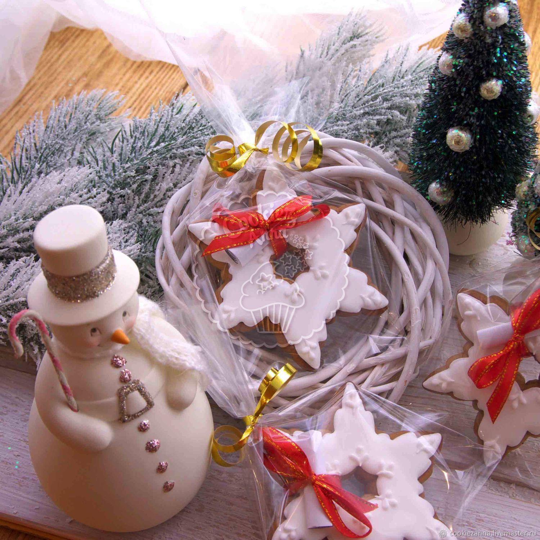 Снежинка с предсказанием в подарочной упаковке, Пряники, Санкт-Петербург,  Фото №1