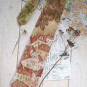 Аксессуары ручной работы. Ярмарка Мастеров - ручная работа Осенняя Прага - шелковый галстук с ручной росписью. Handmade.