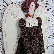 Куклы и игрушки ручной работы. Ярмарка Мастеров - ручная работа Винтажный тильда ангел кофейный. Handmade.