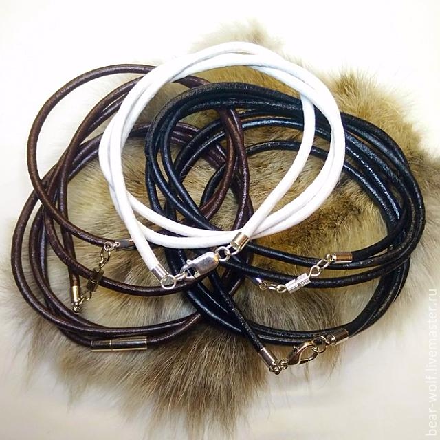 Подарки для мужчин, ручной работы. Ярмарка Мастеров - ручная работа. Купить 3 мм. гладкий кожаный шнур. Handmade. Гайтан