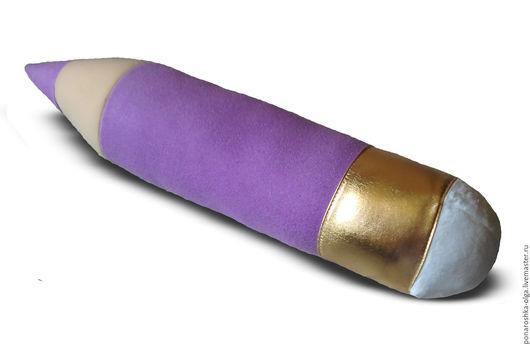 """Текстиль, ковры ручной работы. Ярмарка Мастеров - ручная работа. Купить подушка""""КАРАНДАШ"""". Handmade. Фиолетовый, подушка, подушка на диван"""