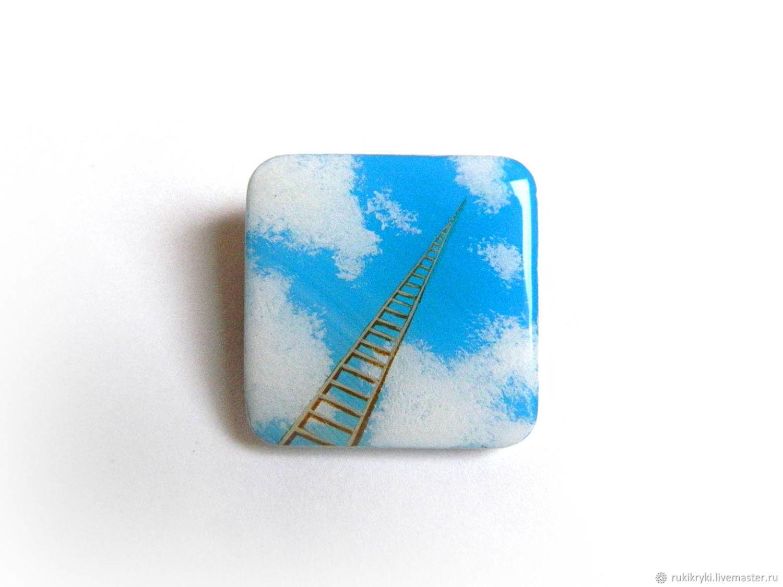 Лестница в небо. брошь, Броши, Москва, Фото №1
