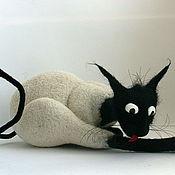 Куклы и игрушки ручной работы. Ярмарка Мастеров - ручная работа из серии признаки кошкости.. Handmade.