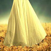 """Одежда ручной работы. Ярмарка Мастеров - ручная работа юбка длинная из натурального шелка """"Золотая нежность"""". Handmade."""