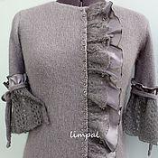 """Одежда ручной работы. Ярмарка Мастеров - ручная работа Блузка """"Серый шелк-II"""". Handmade."""