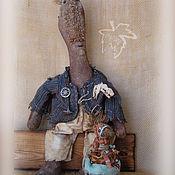 Куклы и игрушки ручной работы. Ярмарка Мастеров - ручная работа Мальчик и Птичка. Handmade.