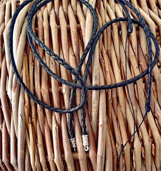 Кулоны, подвески ручной работы. Ярмарка Мастеров - ручная работа. Купить Кожаный шнурок для кулонов. Handmade. Серебряный, серебро