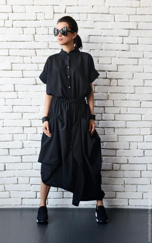 Платья ручной работы. Ярмарка Мастеров - ручная работа. Купить Длинное платье-рубашка из льна. Handmade. Платье, платье на выход