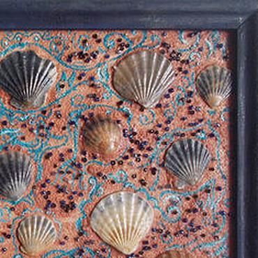 Картины и панно ручной работы. Ярмарка Мастеров - ручная работа Маленькое панно. Вспомни океан. Handmade.