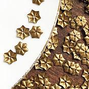 Материалы для творчества ручной работы. Ярмарка Мастеров - ручная работа Пайетки цветы, металлические пайетки, бусины цветы, бронза. Handmade.