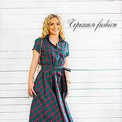 """Одежда ручной работы. Ярмарка Мастеров - ручная работа Платье-рубашка """"Кристи"""" (шотландка). Handmade."""