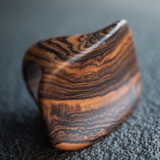 Кольца ручной работы. Ярмарка Мастеров - ручная работа. Купить Деревянное кольцо из бокоте. Handmade. Коричневый, деревянное кольцо