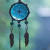 Украшения handmade. Livemaster - original item Blue Glass Dream Pendant (p-030-02). Handmade.