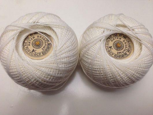Вязание ручной работы. Ярмарка Мастеров - ручная работа. Купить Хб нитки штопка. Handmade. Тёмно-синий, хлопок