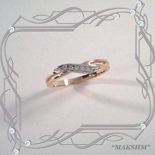 Ring 'Light style' gold 585, Zirconia, Rings, St. Petersburg,  Фото №1